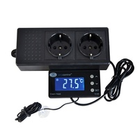 Digital Thermostat for Aquarium with Waterproof Sensor Tc 320 Us Eu Plug Outlet Lcd 2 Stage Heating Cooling Model