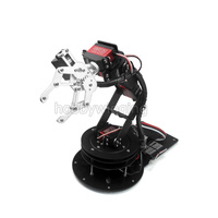 6 DOF רובוט מתכת סגסוגת זרוע מכאנית קלאמפ קלאו והסיבוב Stand קיט ההר w/6 יחידות Servos MG996R Arduino רובוטית חינוך