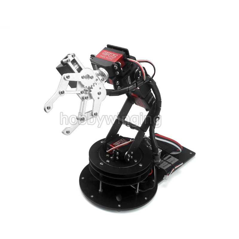 6 DOF Robot Metal Alloy Mechanical Arm Clamp Claw & Swivel Stand Mount Kit w/ 6pcs MG996R Servos for Arduino Robotic Education крепление поворотное sp gadgets swivel arm mount для gopro 53060