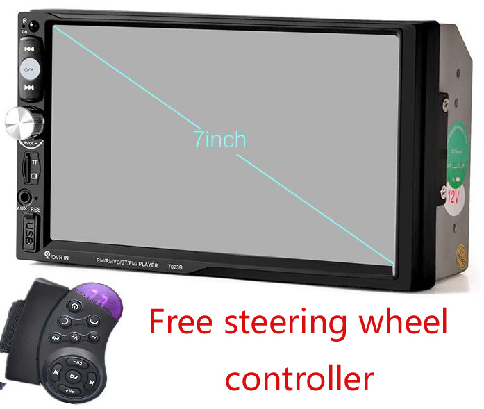 double 2din car autoradio 2 din car dvd player with bluetooth stereo video steering wheel in car. Black Bedroom Furniture Sets. Home Design Ideas