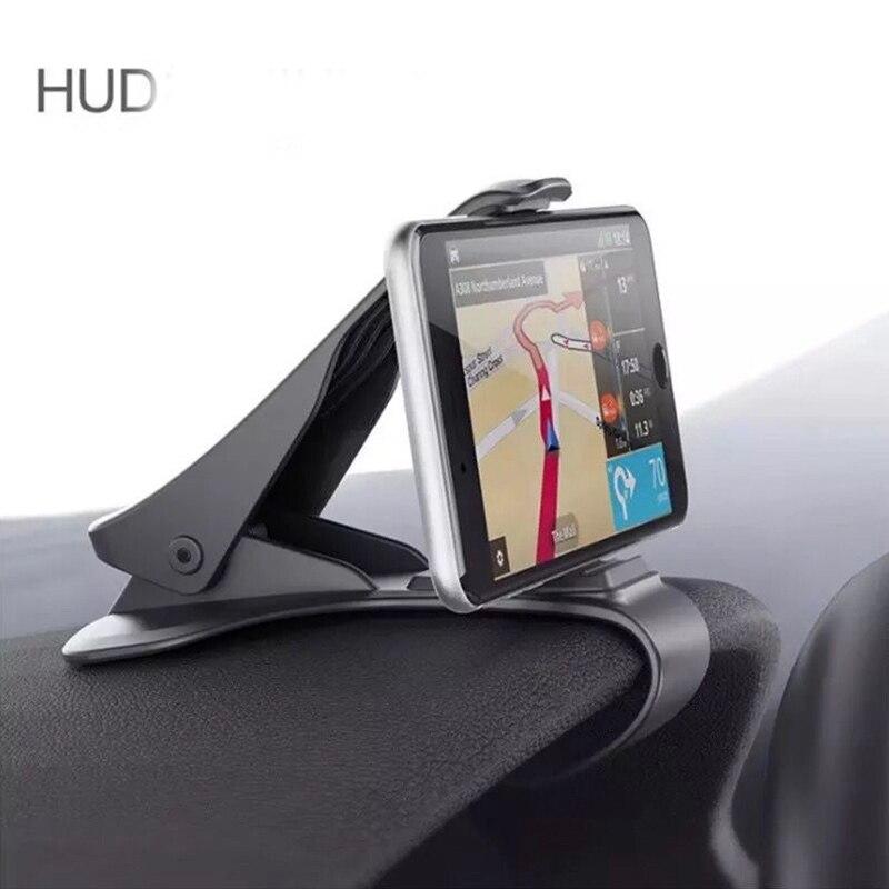 6.5inch Ashboard Car Phone Holder Easy Clip Mount Stand Car Phone Holder GPS Display Bracket Classic Black Car Holder Support