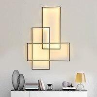 Бесплатная доставка светодиодный настенный светильник бра дизайнер освещение прямоугольник алюминия живут кроватями Лестницы настенный