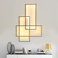 Free Shipping LED Wall Lamp Wall Sconces Designer Lighting Rectangle Aluminium Living Bed Room Stairs Wall Light