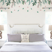 Fresh green leaf pattern living room bedroom wall stickers wall decoration removable easy to paste stickers