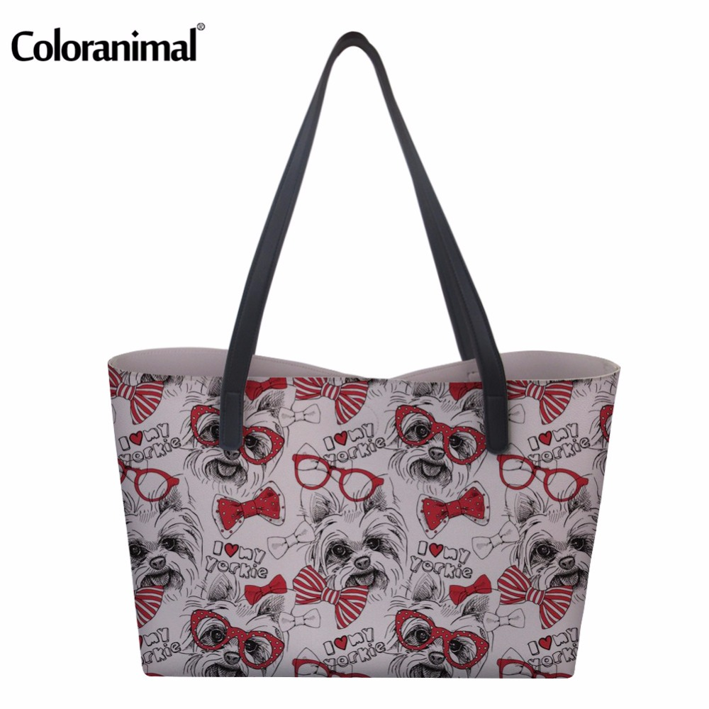 Coloranimal 2018 New Designer Women Large Capacity PU Tote Bags Woman Fashion Shopping Bags Portable Storage Handbags for Lady