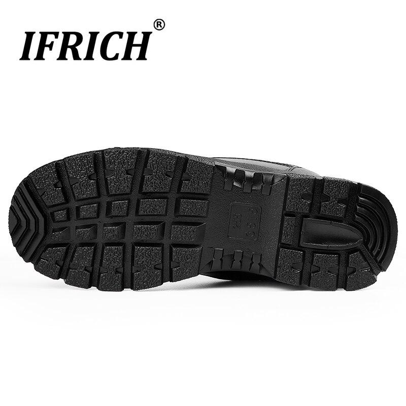 2019 Hot Koop Mannen Werken Laarzen Mannen Lederen Militaire Schoenen In Outdoor Tactische Laarzen Mode Outdoor Mannen Laarzen Big Size 45 46 - 3