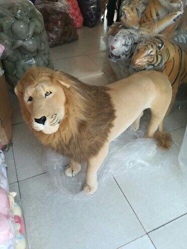 Giant Large Plush Lion Toy Simulation Animal Stuffed Cartoon Toys