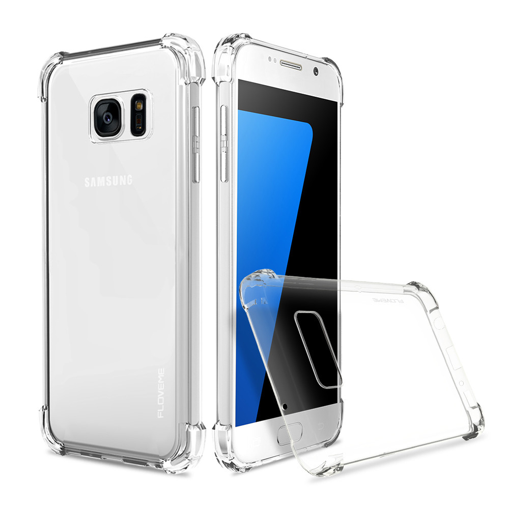 the latest 73e56 bc422 US $3.98 |FLOVEME Case for Samsung Galaxy S7 Edge Case for Samsung S7 S7  Edge Transparent Cover Soft Silicone Phone Bag Accessories-in Fitted Cases  ...