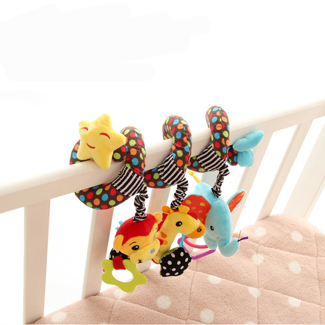 New Musical Stars Multifunctional Car bed Hanging bed Bell Baby toys Educational Toys Rattles for Kids Best Gift WJ130