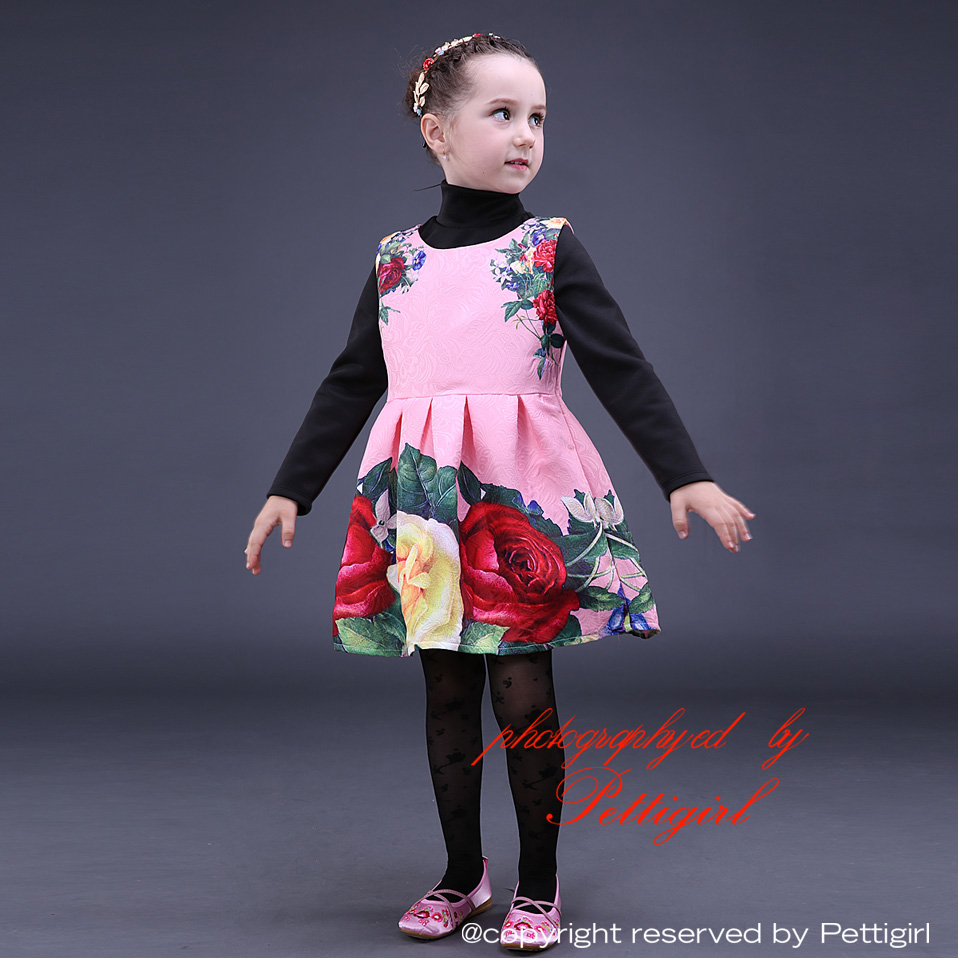 201a6c9ce3bf 2016 Pink Rose Girls Christmas Dresses Fashion Sleeveless Girls Prom Dress  Fancy Baby Kids Clothes GD80928 24-in Dresses from Mother & Kids on ...