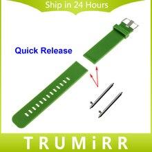22mm Sangle De Dégagement rapide pour LG G WATCH W100/R W110/urbain W150 Asus Zenwatch 1 2 Pebble Temps Bande De Caoutchouc De Silicone Bracelet