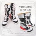 Harley Quinn Comando Suicida reversión del sexo cosplay shoes Boots Por Encargo
