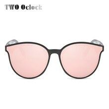 TWO Oclock Ladies Oversized Vintage Cat Eye Sunglasses Women Rose Gold Cateye Sun Glasses 2017 High Quality Brand Lunette X7713
