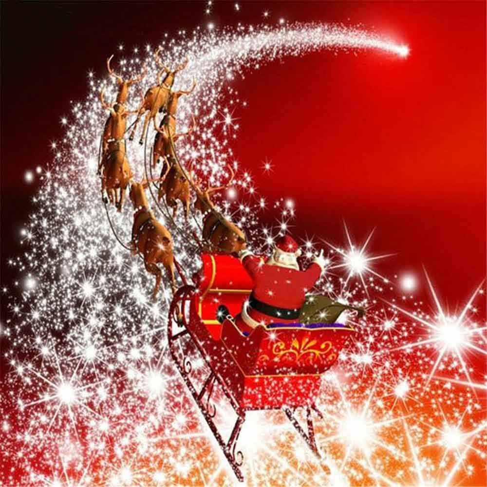 DIY Diamond Embroidery Santa Claus Full Square 5D Christmas Diamond Painting Cartoon Picture Of Rhinestone Decor Home