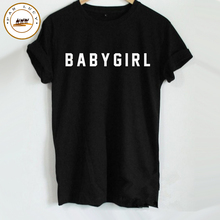 Plus Size Top XXXL Women T shirt BABYGIRL Funny Printed Letters T Shirts Summer Style Basic T shirt Cotton Unisex Couple Tees