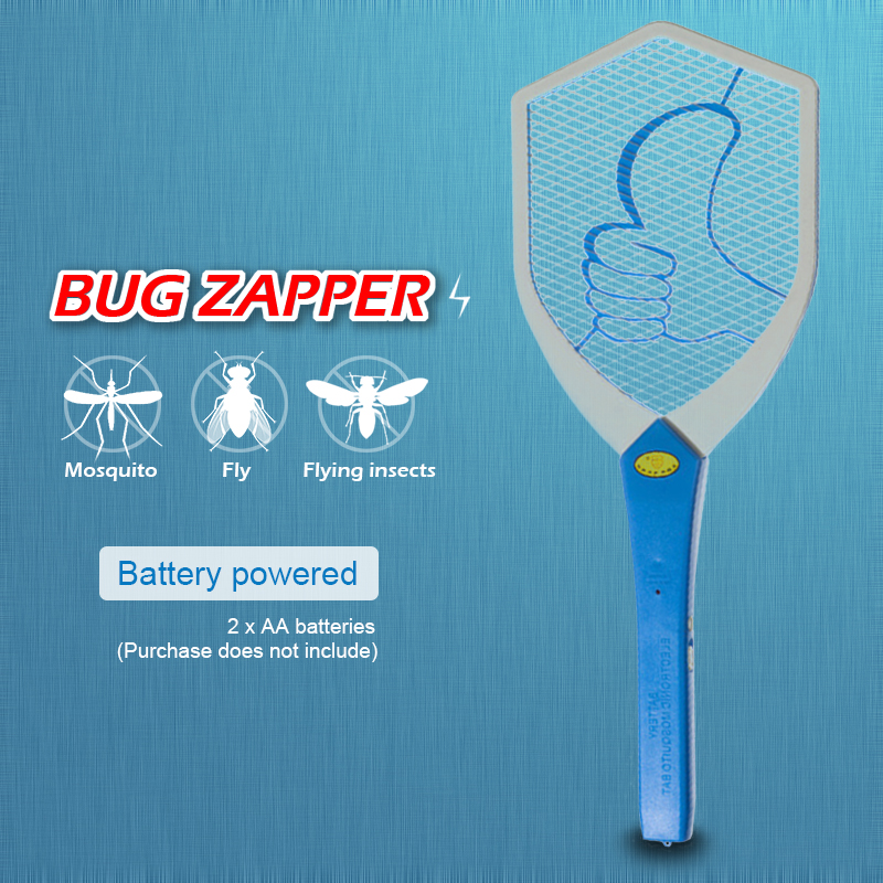Aa Battery Bug Zappers Flying Insects Mosquito Killer Electric Fly Mosquito Swatter Racket Insects Pest Control Safety&Non Toxic