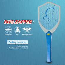 AA Battery Bug Zappers Flying insects mosquito killer Electric Fly Mosquito Swatter Racket Insects Pest control Safety&Non-toxic