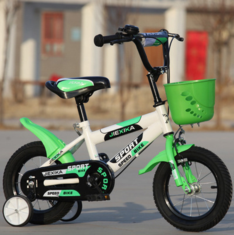 Children's Bicycle 16-Inch High Version Of The Boy And Girl Baby Buggy 6 Years Old Mountain Bike Child Four-Wheel Bike