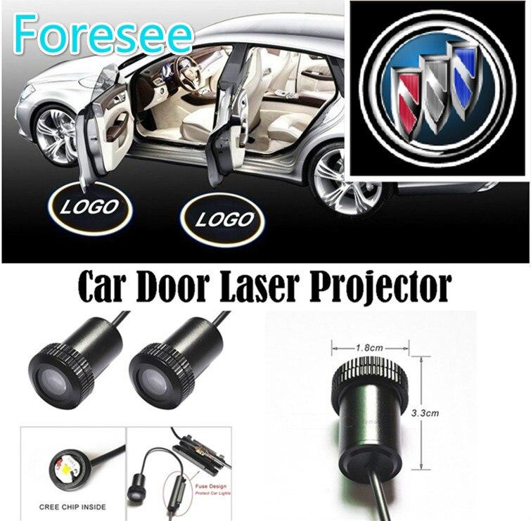 Foresee (For Bui.ck) 2*Universal Ghost Shadow Logo welcome Car LED Door Light Laser Courtesy Slide Projector logo Emblem light