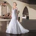 Custom Size Mermaid Long Sleeve Lace BeadingBackless Sexy Bride Wedding Gown New 2017 Wedding Dresses vestidos de noiva LE19