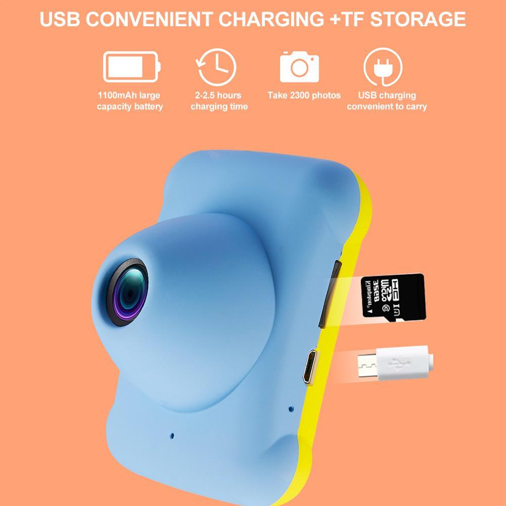 Mini appareil photo numérique petit reflex double objectif caméras jouet pour enfants HD Projection appareil photo numérique enfants cadeau d'anniversaire - 5