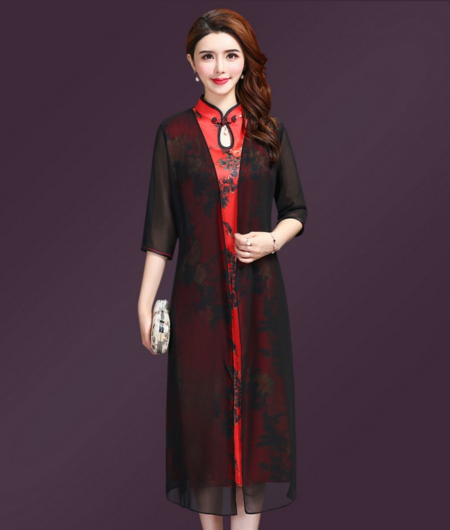 Chinese Cheongsam Dress Fashion Vietnam Ao Dai Summer 2019 Big Size