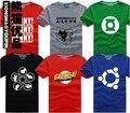 Теория Большого Взрыва Футболка Шелдон Купер super hero зеленый фонарь вспышки косплей футболки мужчины женщины выродок тройник TBBT т рубашка