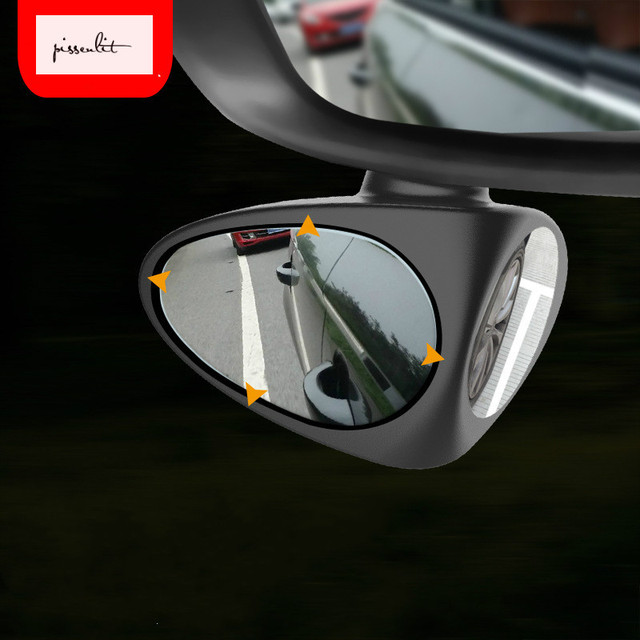 360 Deg Rotatable 2 Side Car Blind Spot Convex Mirror Automibile Exterior Rear View Parking Mirror Safety Accessories Reversing 1