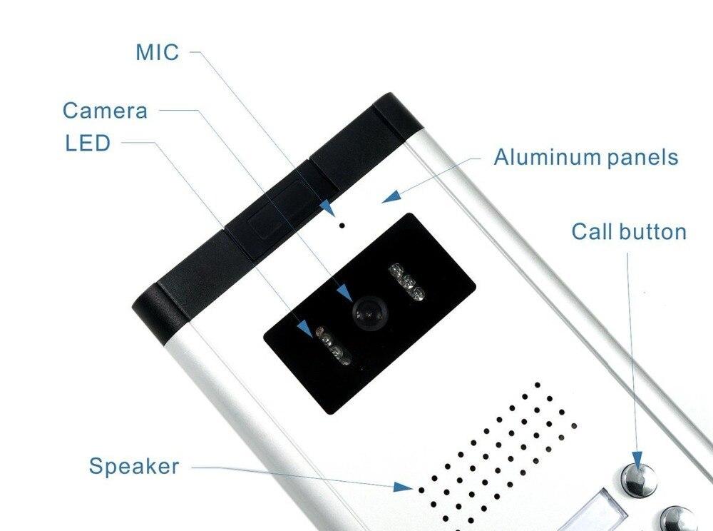2/3/4 eenheden Appartement Video Deurtelefoon Intercom Systeem Video deurbel Kit voor 2 4 Appartementen huis 1 Camera 2 4 Monitor - 6