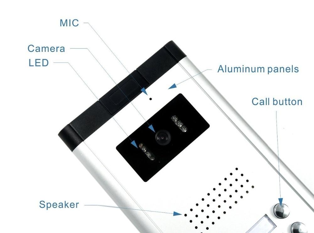 2/3/4 unidades apartamento telefone video da porta intercom sistema de vídeo campainha kit para 2 4 apartamentos casa 1 câmera 2 4 monitor - 6