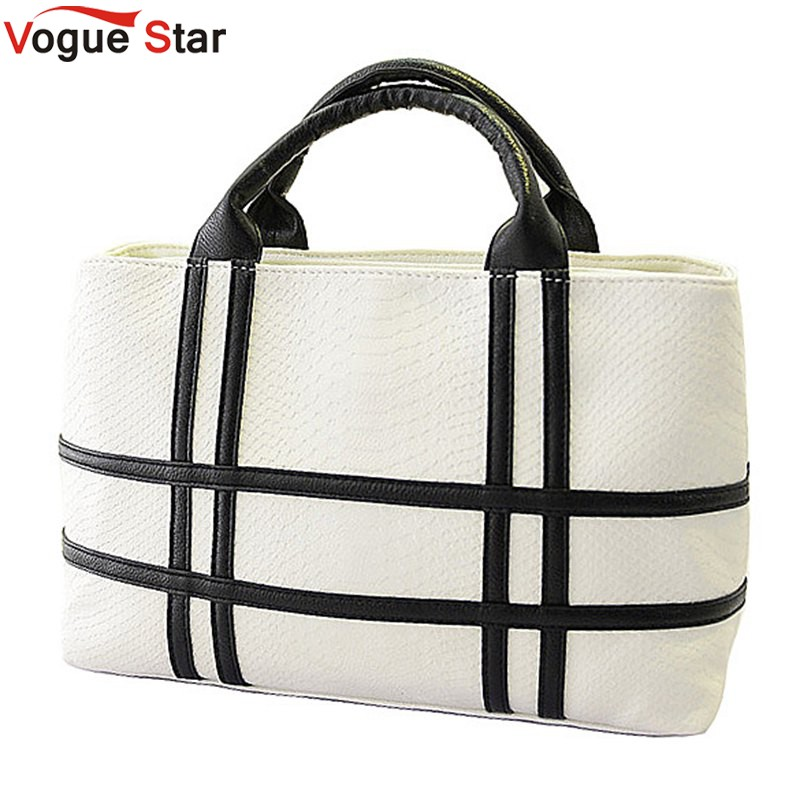 Vogue Star 2017 new black and white hit color shoulder bag pu leather crocodile pattern square handbag female tide YK40-785