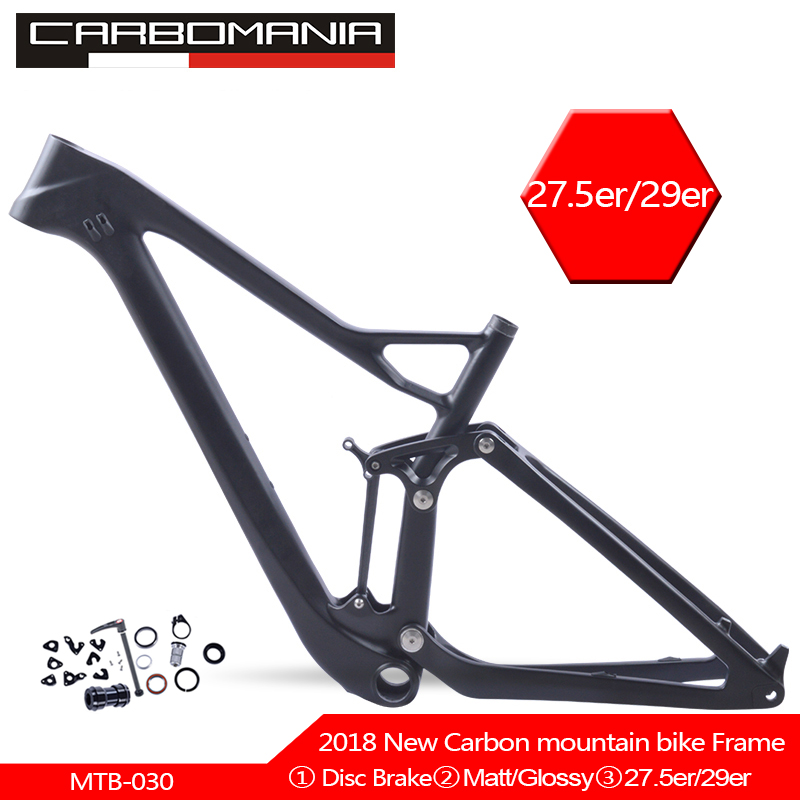 148*12mm Boost Carbon Suspension Mountian Bike Frame 29er/27.5er Carbon Mtb Bicycle Frame Disc 160mm Suspension Frames