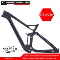Marco de bicicleta de montaña de 148x12mm  suspensión de carbono de estimulación  29er/27 5er  marco de bicicleta de montaña de carbono  marcos de suspensión de 160mm