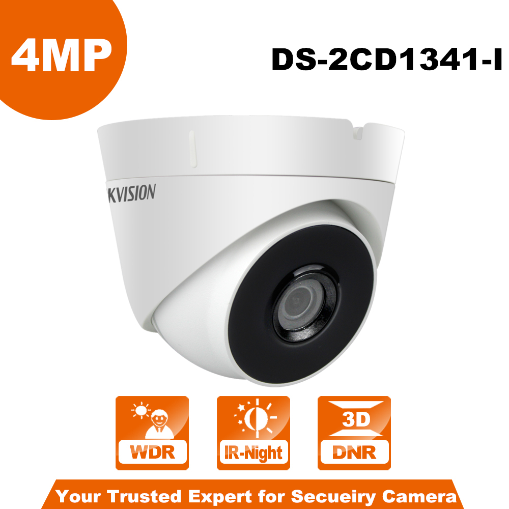 Origianl Hik DS-2CD1341-I Security IP Camera 4MP CMOS Turret CCTV IP Camera Outdoor/Indoor English Version upgrade in stock english version 4mp ip camera ds 2cd1341 i replace ds 2cd2345 i network cctv turret camera full hd1080p ip67 h 264