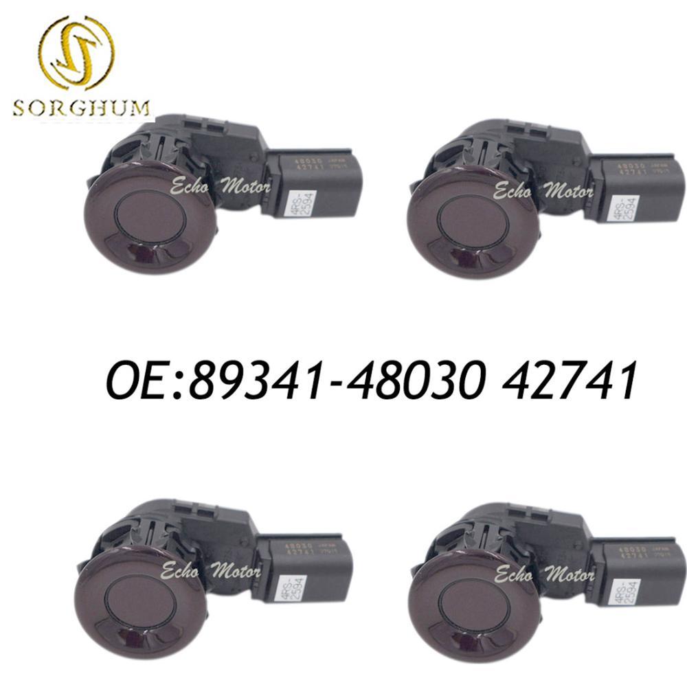 Nouveau SET (4) 89341-48030 42741 capteur de stationnement de voiture sans fil pour Toyota Lexus GX460 RX350 RX450H couleur rouge perle