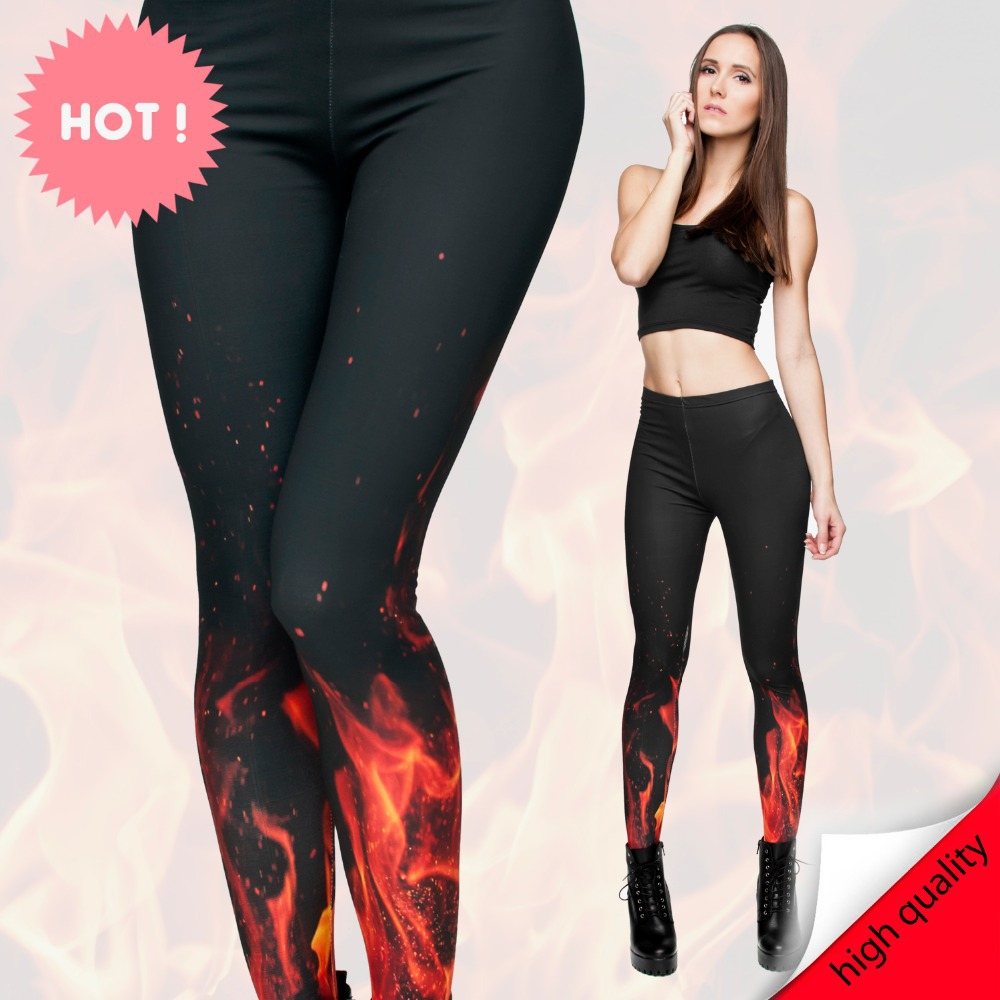 a22362cbc3 US $6.99 30% OFF|2015 women fire Flame 3digital printing fashion sexy  leggings high quality&elastic leggings-in Leggings from Women's Clothing on  ...
