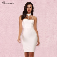 Ocstrade Women Bodycon Dress 2017 Summer Sexy Bandage Party Dress Vestidos Cut Out High Quality Rayon