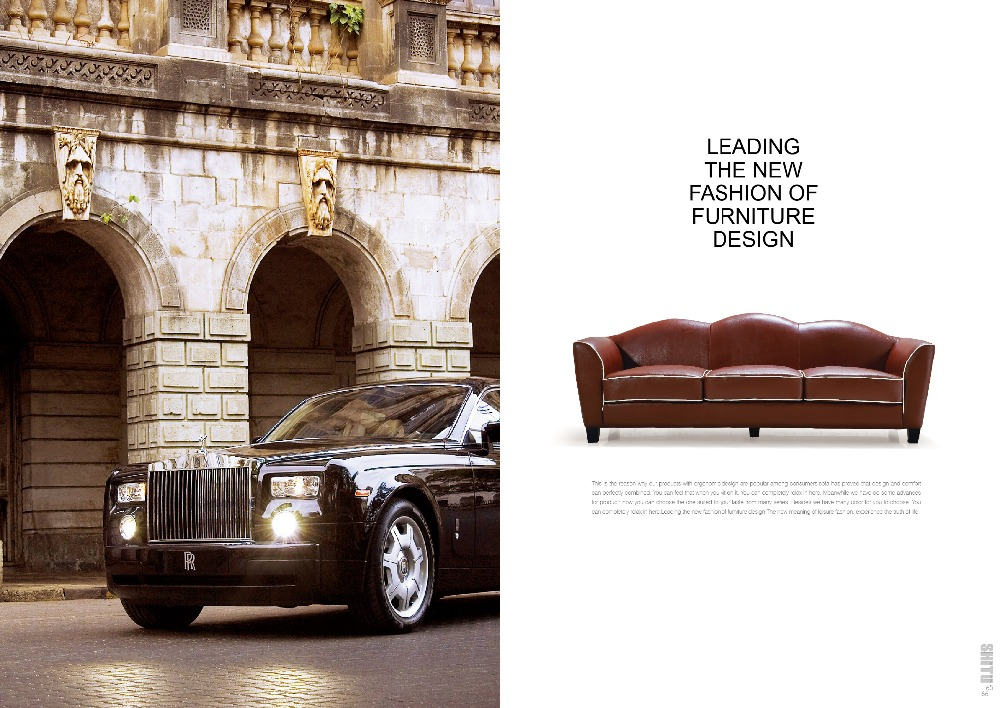 Big American Country Style Leather Couch Sofa