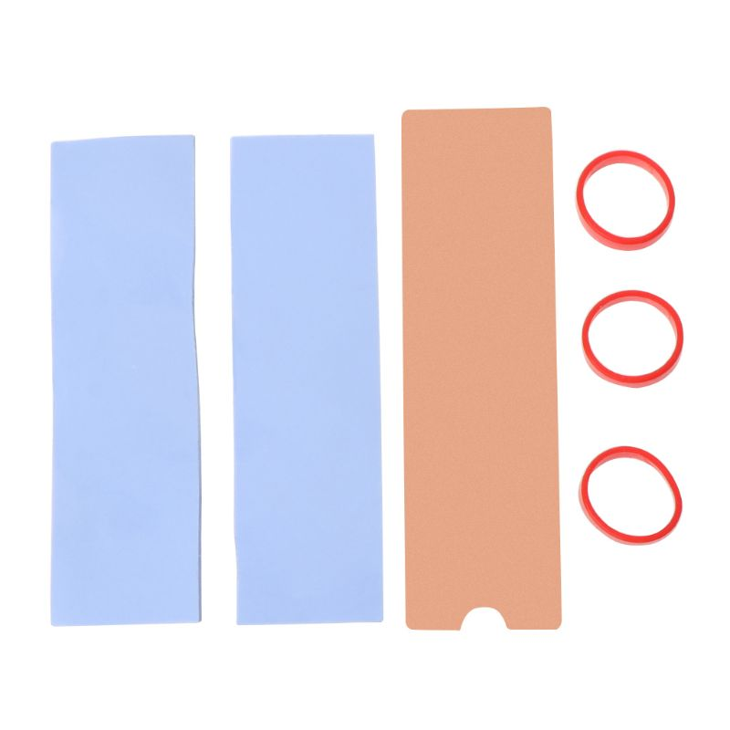New Cooling Copper Sheet M.2 Heatsink NVME Heat Sink NGFF M.2 2280 Thermal Pad Conductivity Silicone Wafer Cooling Fan Cooler