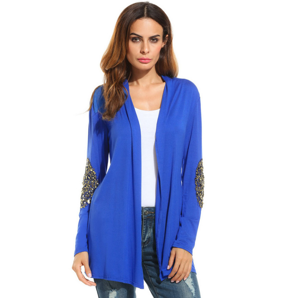 Meaneor Brand Women Sequin Cardigan Outwear 2017 New Autumn Wool ...