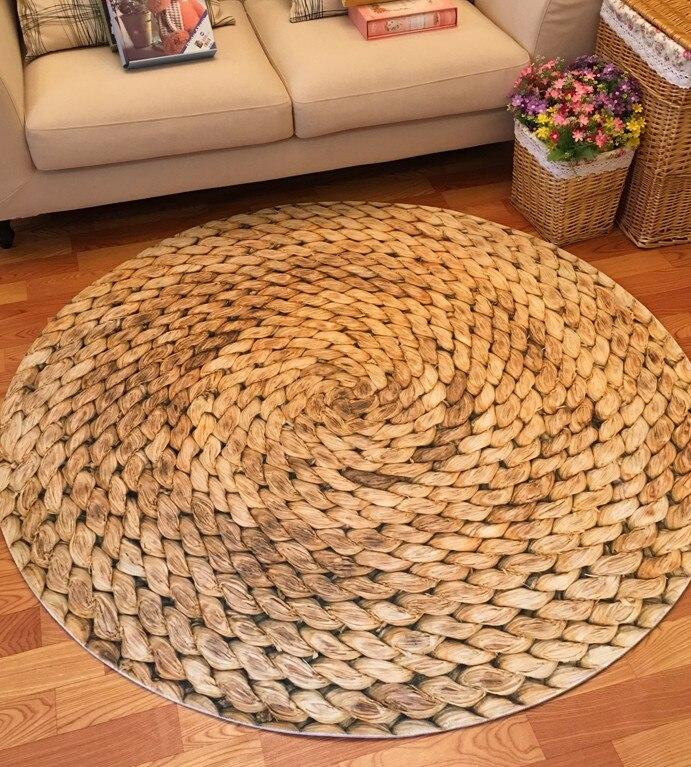 Large Round Carpet 160cm Mat Japanese Modern Minimalist Living Room Bedroom  Round Coffee Table Swivel Chair