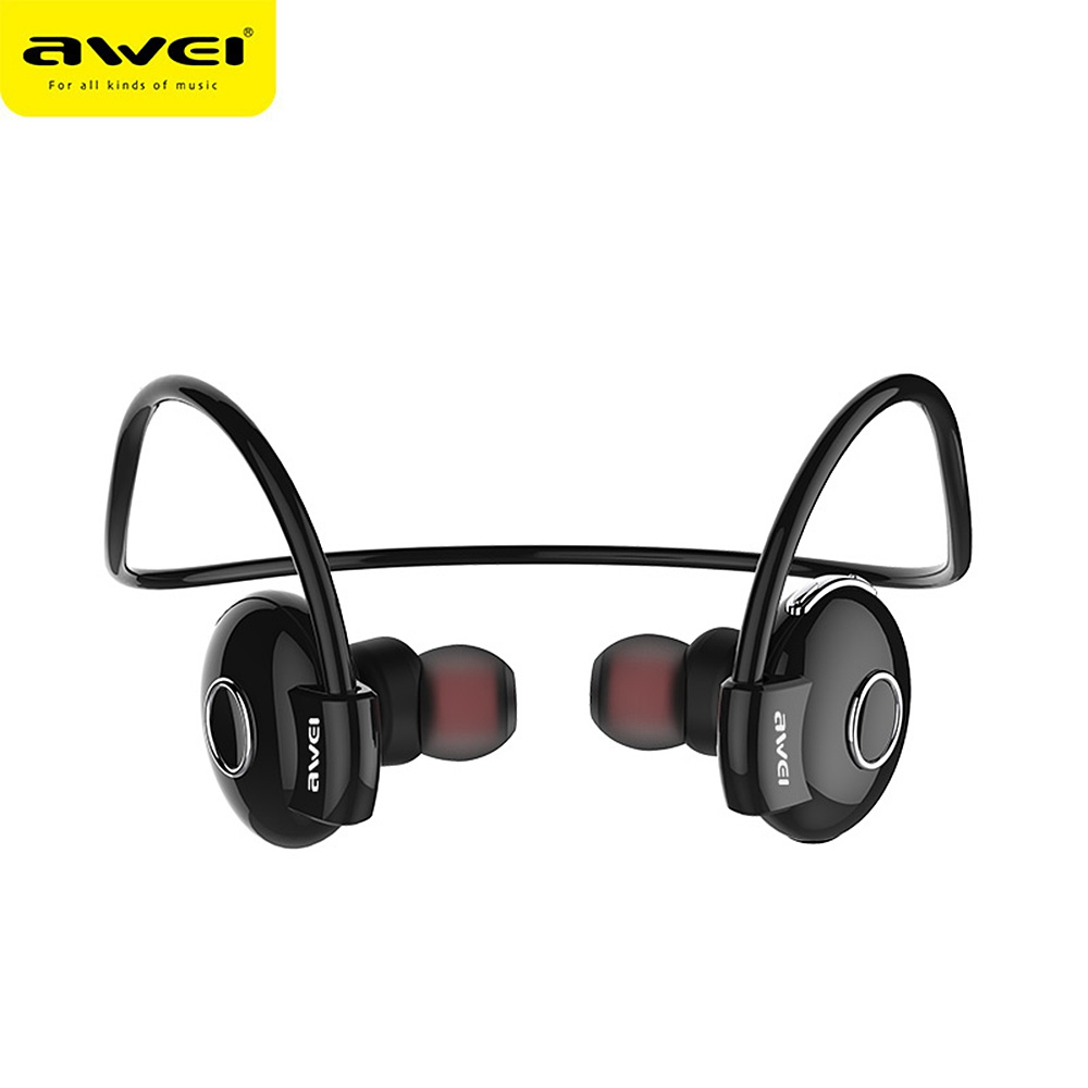 Awei A845BL Bluetooth Headphone Wireless Stereo Music Sport Headset Noise Cancelling Handsfree Neckband Earphone With Microphone hbs 760 bluetooth 4 0 headset headphone wireless stereo hifi handsfree neckband sweatproof sport earphone earbuds for call music