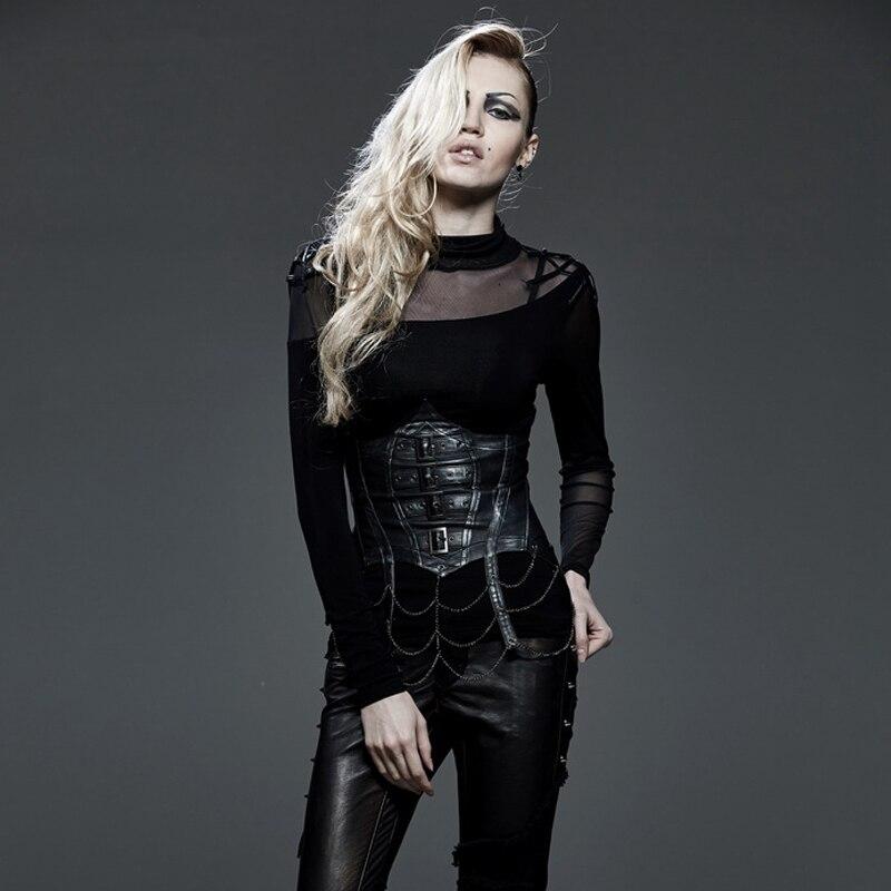 De Mince Mode Noir En Accessoires Femmes Ceinture Corset Manuel Gilet Chaîne Cuir Punk qaPFwgW