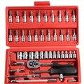 Хром-ванадиевой стали 46 в сочетании 1 ключ храповика торцевой гаечный ключ универсальный глава Автомобильной Набор Инструментов