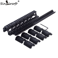 SINAIRSOFT Saiga 12 Shotgun Tactical Quad Rail See through Scope Mount Weaver Forend For AK47 74 With Rubber Covers Picatinny