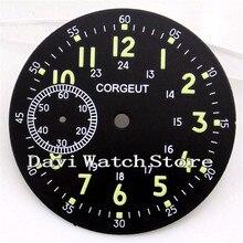 39 мм черный Corgeut циферблат Мужские часы комплект приблизительный срок поставки: 6497 Чайка st36 движения A546