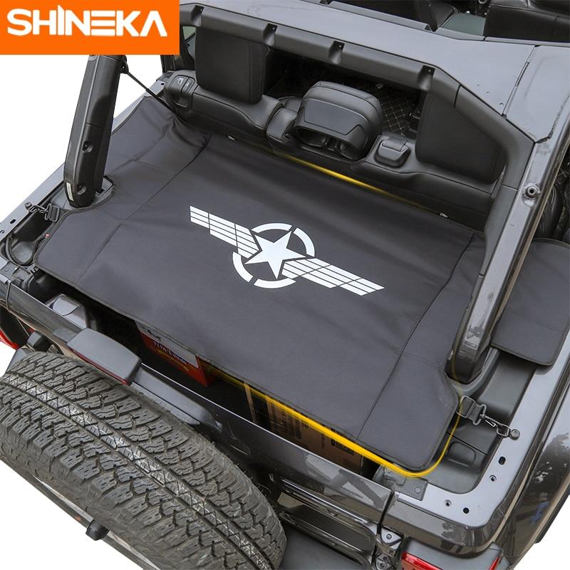 SHINEKA moulures intérieures pour Jeep Wrangler JL 2018 + couverture de rideau de coffre de transporteur de bagages de voiture pour Wrangler 2019 accessoires de voiture - 5