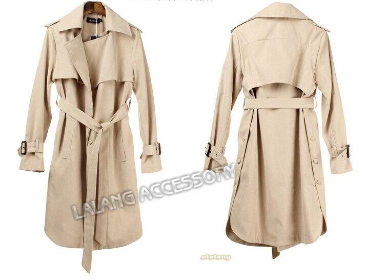 detailed look 82e35 fc675 US $25.18 20% OFF|2018 Spring Autumn Women Long Jacket Coat Loose Belt  Casual Long Outerwear Jacket Plus Size XXXL-in Basic Jackets from Women's  ...