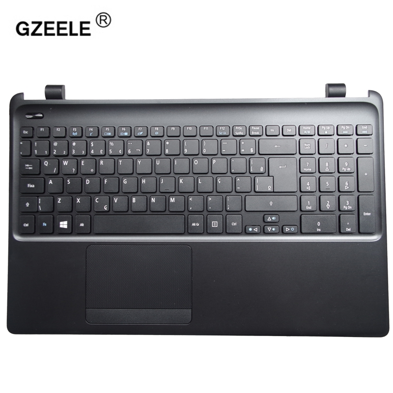 GZEELE new laptop keyboard with C shell for Acer E1-570G E1-572G E1-522 E1-572G E1-570 E1-510 Palmrest upper case keyboard bezel mbr30h100ctf e1