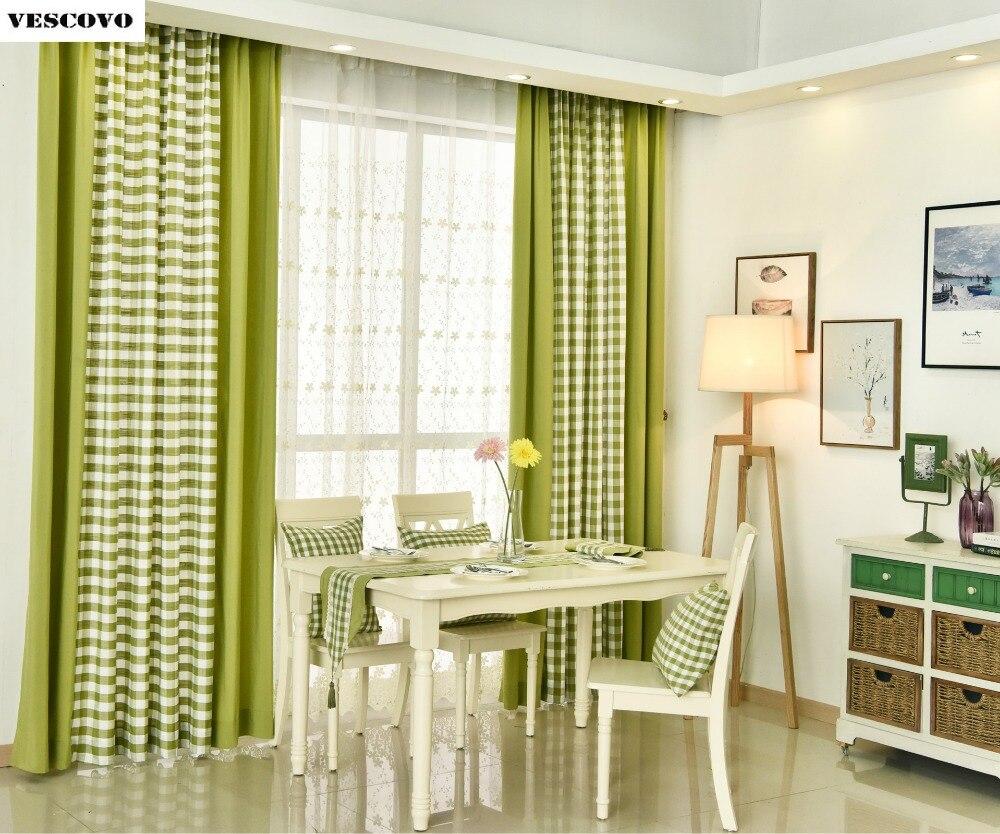 inglaterra retro plaid raya blackout cortinas cortinas para la sala de estar dormitorio moderno cortina de
